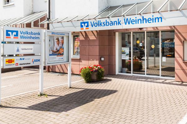 Volksbank Kurpfalz eG, Volksbank Kurpfalz eG - Filiale Mörlenbach, Fürther Str. 20, 69509, Mörlenbach